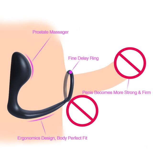 Anal Orgasm Butt Plug Prostate Massager & Erection Enhancing Cock