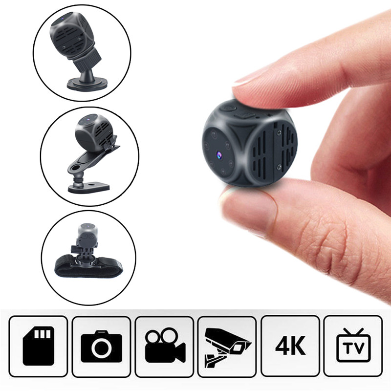 1080P Mini Multifunction Camera HD Smart Home Security Camera Night Vision Car Survelliance Camera Portable Sports Camera