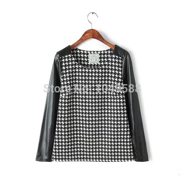 top brands huge inventory get online WB543# Pull And Bear Spring Women's Black White Plaid Shirt ...