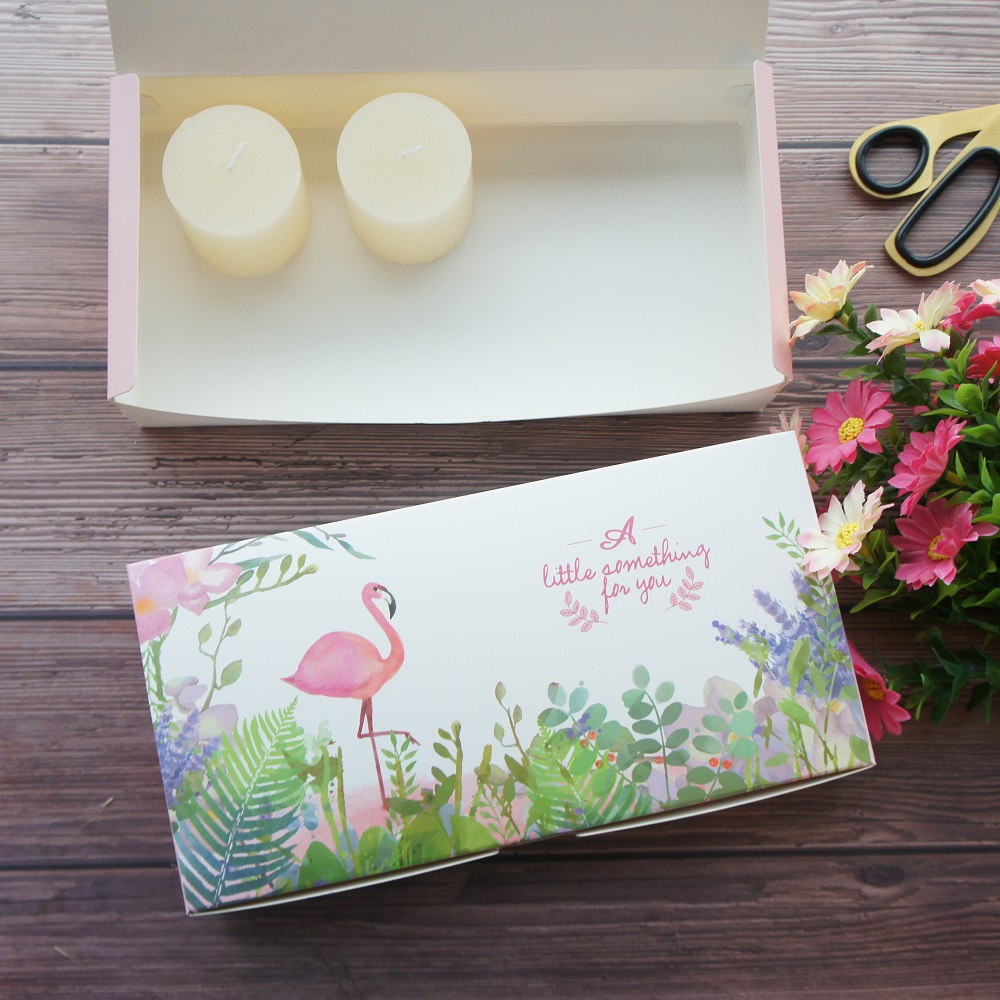 24 2 12 2 5cm 10pcs Flamingo say love design Macarons cookie candy Paper Box as Birthday Party Gifts keep Packaging in Gift Bags Wrapping Supplies from Home Garden
