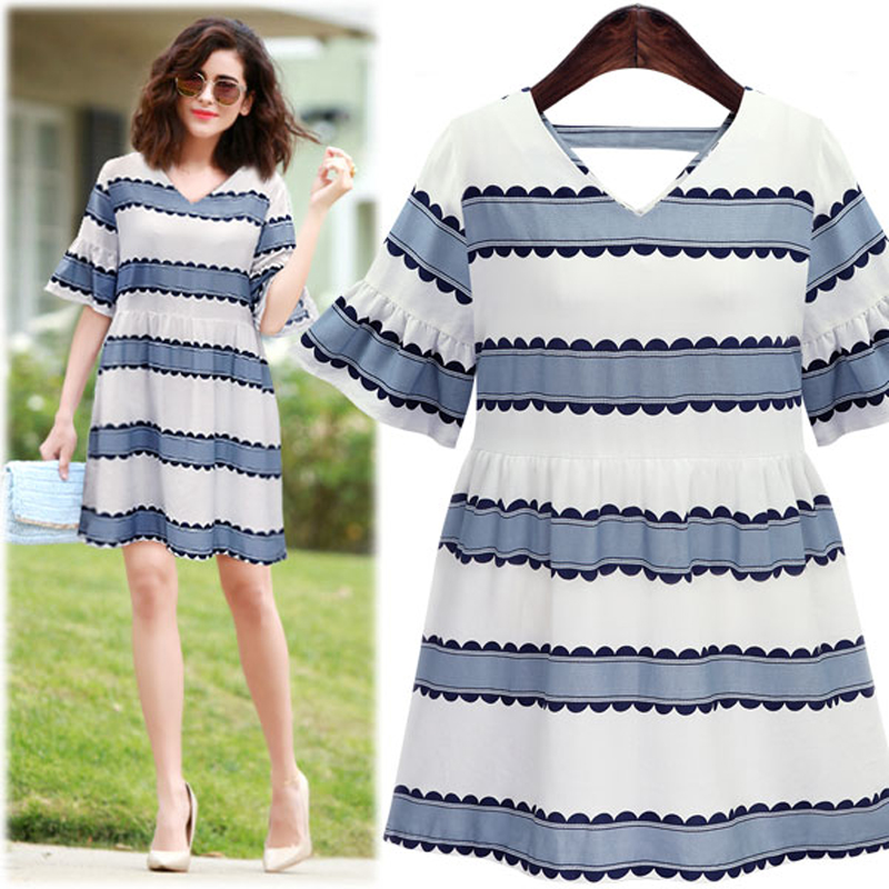 8120ec285 5xl زائد كبيرة الحجم النساء الملابس اللباس 2016 الصيف نمط الكورية vestidos  الحلو لطيف شريط رقيق الإناث a1425
