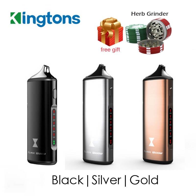 Original Kingtons herbal vaporizer Black Widow vapor box mod vape dry herb vaporizer wax e cigarette kit 2200mAh Ceramic heating цены