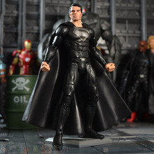 Free Shipping Anime Toy Movie Black Superman Avengers Alliance Action Figure  Superman Figurine 17 Cm KH0032