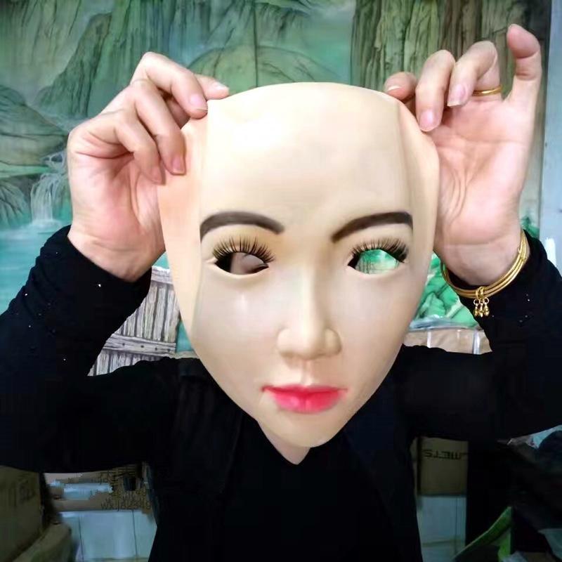 Topkwaliteit crossdresser siliconen masker film rekwisieten, - Feestversiering en feestartikelen - Foto 3