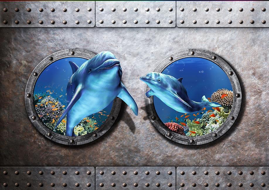 ФОТО custom 3d flooring mural wallpaper Ocean World papel de pared 3d vinyl flooring waterproof self adhesive wallpaper