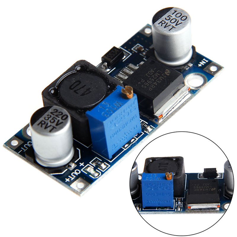 LM2596S DC-DC Buck Converter Step Down Module Power Supply Output 1.23V-30V New dc dc step down converter 24v to dual output 15v isolated power module buck switching power supply a2415s 1w quality product