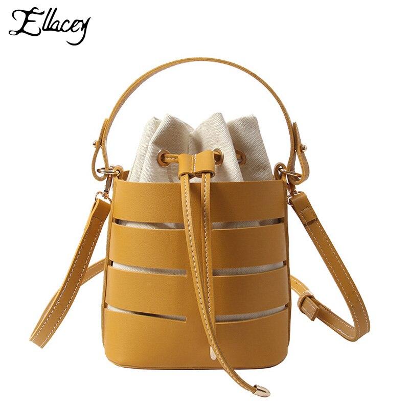 New 2018 Summer Round Women Crossbody Bag Women Korean Comfortable Individual Beach Bag Female Bohemian Shoulder Bag Bucket Bag