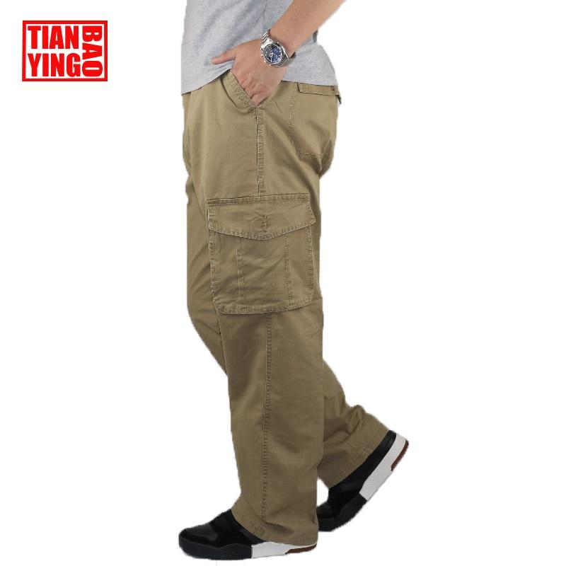 Mens Cargo Pants Joggers Baggy Multi Pocket Casual Khaki Pants Pencil Long Fitness Men Cotton Loose Harem Work Overalls Trousers mens casual blue jeans denim multi pocket loose outdoor straight legs cargo pants