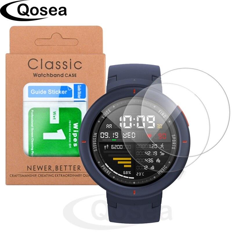 2 pcs Pour Xiaomi Huami Amazfit Smartwatch Montre De Protection Trempé Verre 9 H Ultra Effacer Anti-Déflagrant Film Écran protecteur