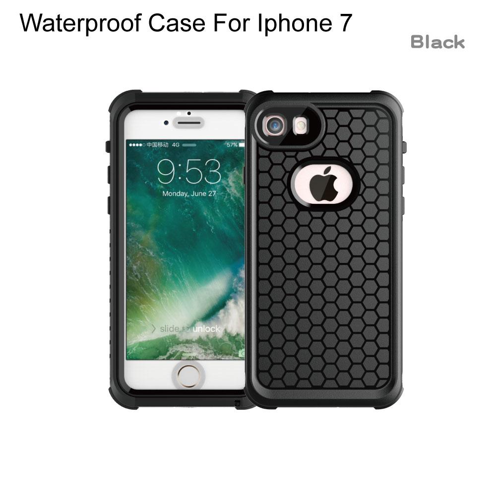 Luxury Shockproof Waterproof Case For iphone 7 Life and swimming dual use Waterproof Case For iPhone 6 6s 7 plus phone c