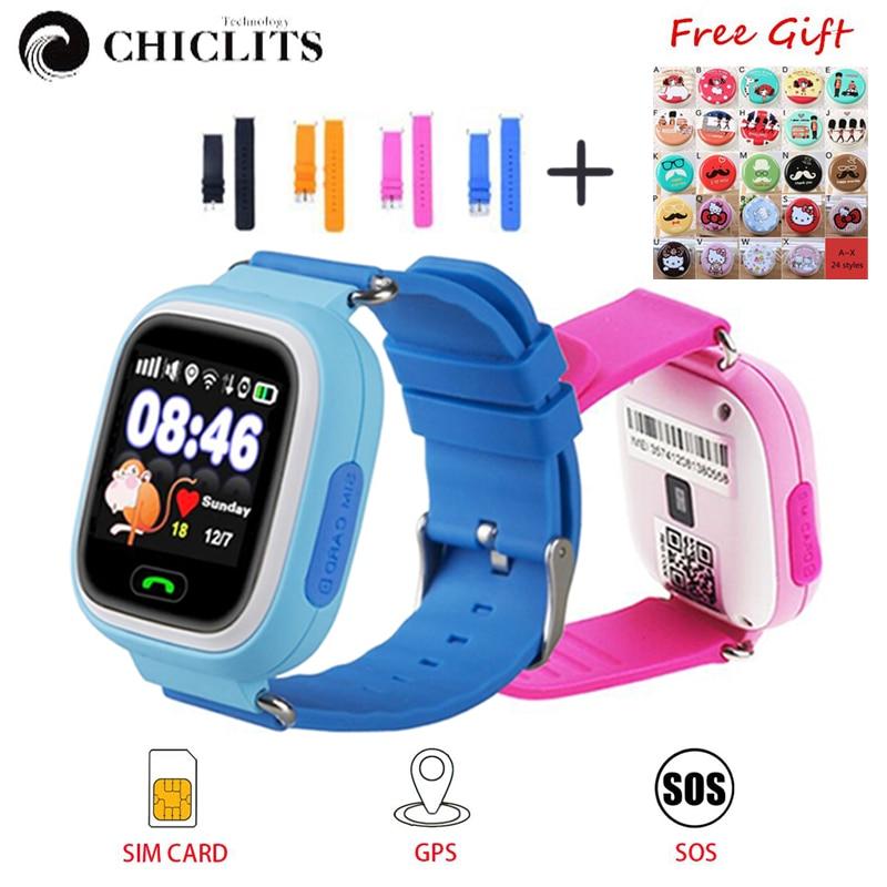 Q90 Smart Montres pour Enfants GPS WIFI Positionnement Enfant Smartwatch SOS Call Lieu Finder Dispositif Tracker Kid Safe Montre PK Q50