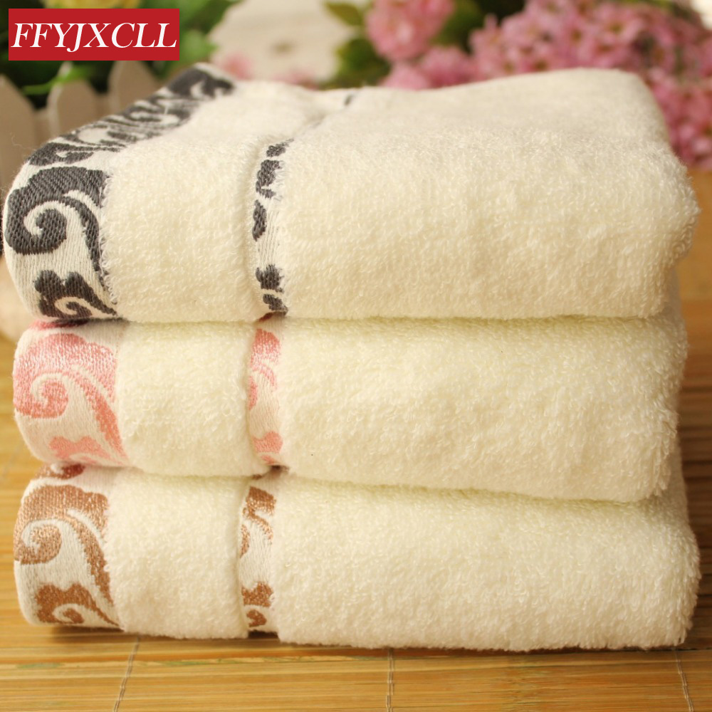Hot Sales 100% Cotton Beach Towels For Adults  Face Towels For  4pcs/lot Brand Bamboo Towel Set Gift