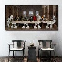 Звездные войны Тайная вечеря книги по искусству стены краски Настенный декор холст Художественная печать на холсте плакат масла картины бе...