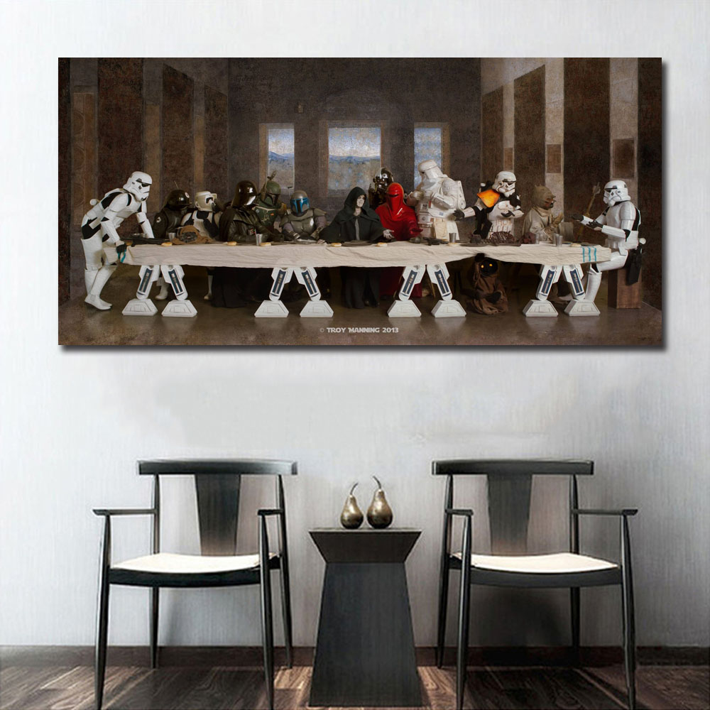 Star Wars The Last Supper Art Wall Art Paint Wall Decor Canvas Prints Canvas Art Poster Oil Paintings No Frame