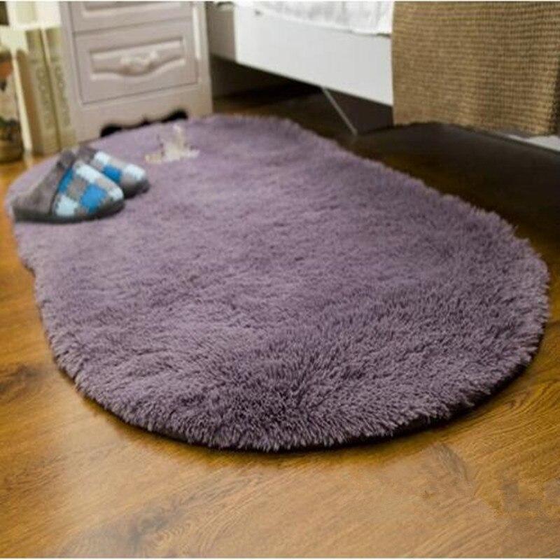 Große Größe Weiche Oval Teppich Alfombras Faux Pelz Bereich Teppiche Rutschfeste Boden Matten Für Parlor Wohnzimmer Schlafzimmer Home liefert