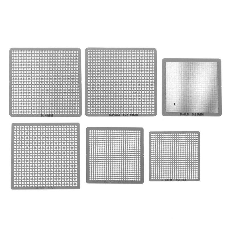 27Pcs BGA Stencils Universal Direct Heated Stencils For SMT SMD Chip Rpair LS…
