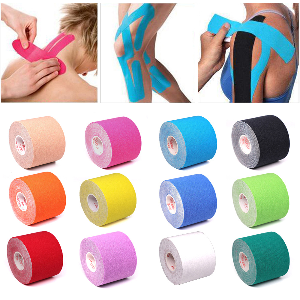 5 Size Kinesiology Tape Athletic Tape Elastoplast Sports Recovery Strapping Gym Waterproof Tennis Muscle Pain Relief Bandage