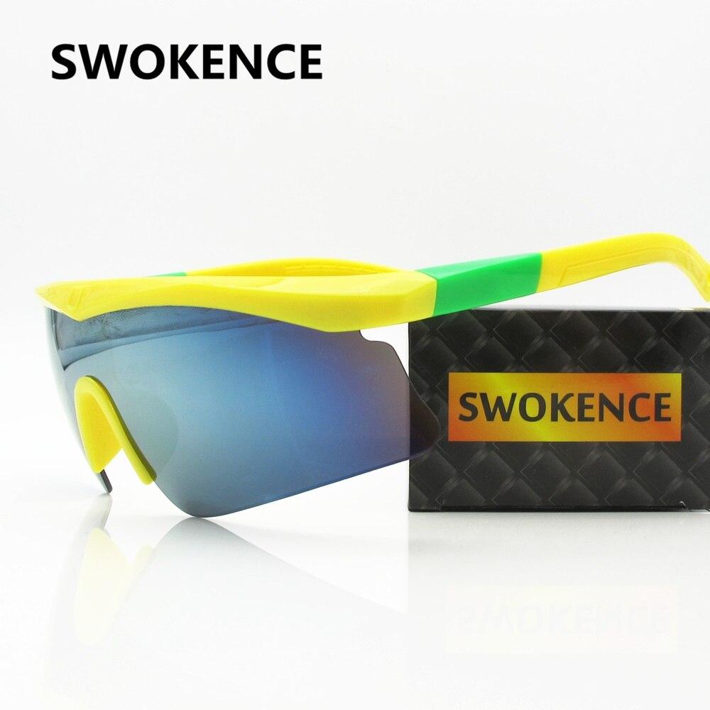 SWOKENCE Мода Съемная половина кадра солнцезащитные очки Для мужчин Для женщин Брендовая Дизайнерская обувь анти-сломанной красочные зеркало ...
