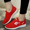 VENTA CALIENTE 2017 Más Nuevos Amantes de La Moda de Primavera de Las Mujeres de Señora Girls Cordón Ocasional Zapatos Planos Respirables Mujer Ocio Zapatillas G574