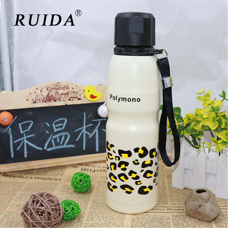 RUIDA 500ML Camouflage double stainless steel creative sports pot custom outdoor grenade sling handle thermos  ST045 Термос