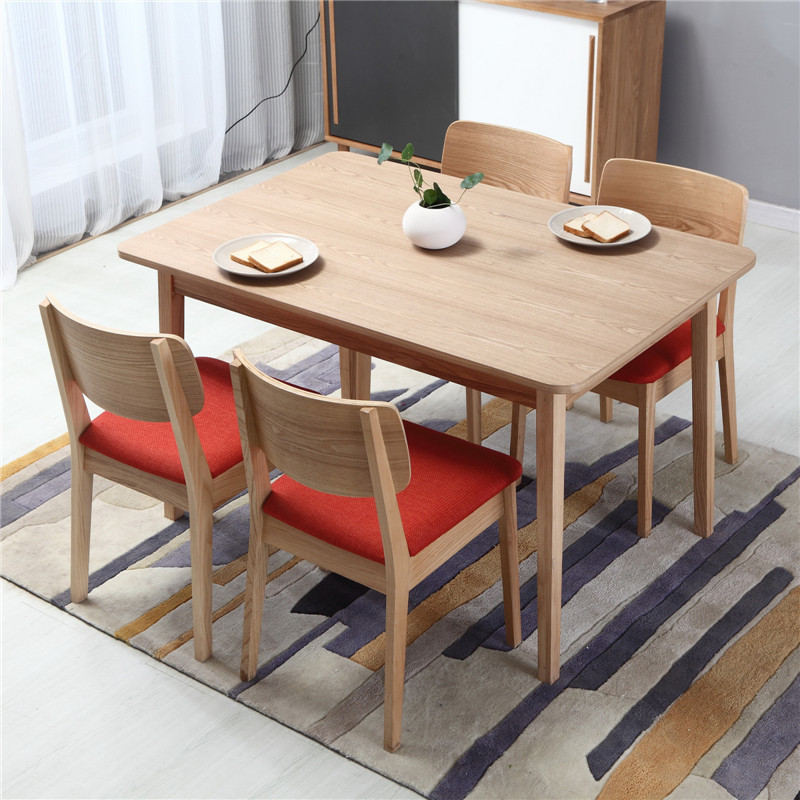 Modern Long 4 Seater Dining Table Legs Solid Wood Furniture European ...