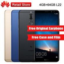 "Huawei Maimang 6 L22 4 GB RAM 64 GB ROM Octa Core 5.9 ""Kirin 659 2160*1080 3340 mAh 4 Caméras D'empreintes Digitales NFC Mobile Téléphone OTA"