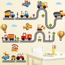 [YoMi] BIL-klistermärken Leksaksväggdekaler för barnrum Baby sovrum Classic klistermärken väggpapper Leksak