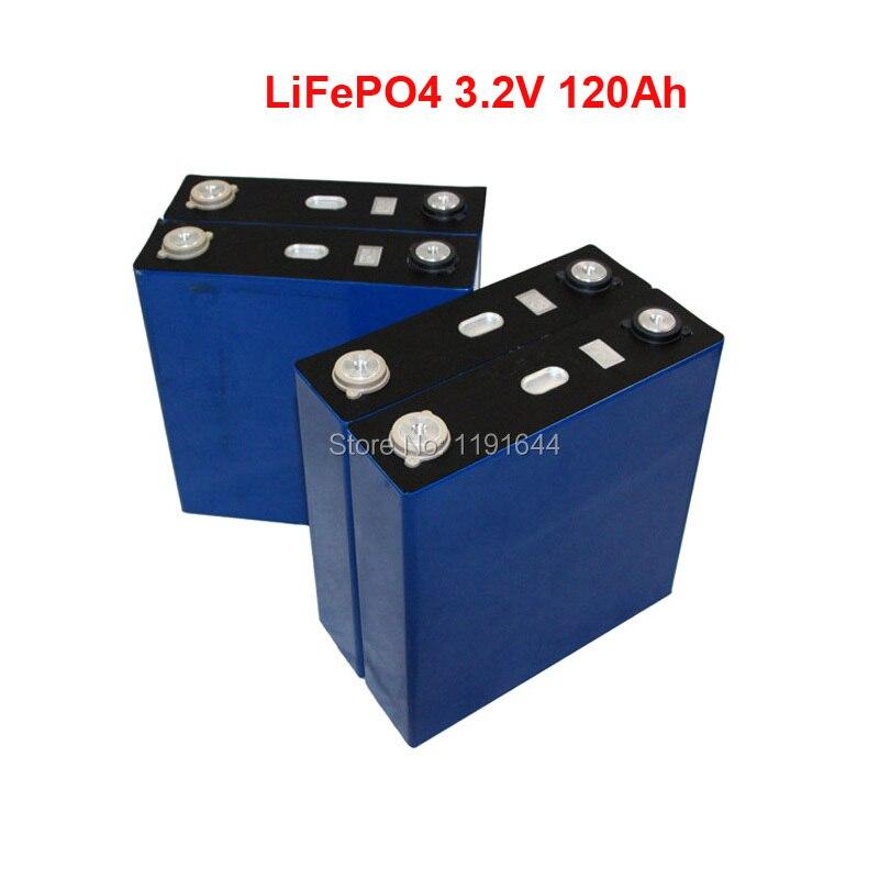 4 PCS 3.2 V 120Ah LiFePO4 3C Longos Ciclos de vida de 3500 Vezes No Máximo Para 12 V bateria de Armazenamento De Energia Solar