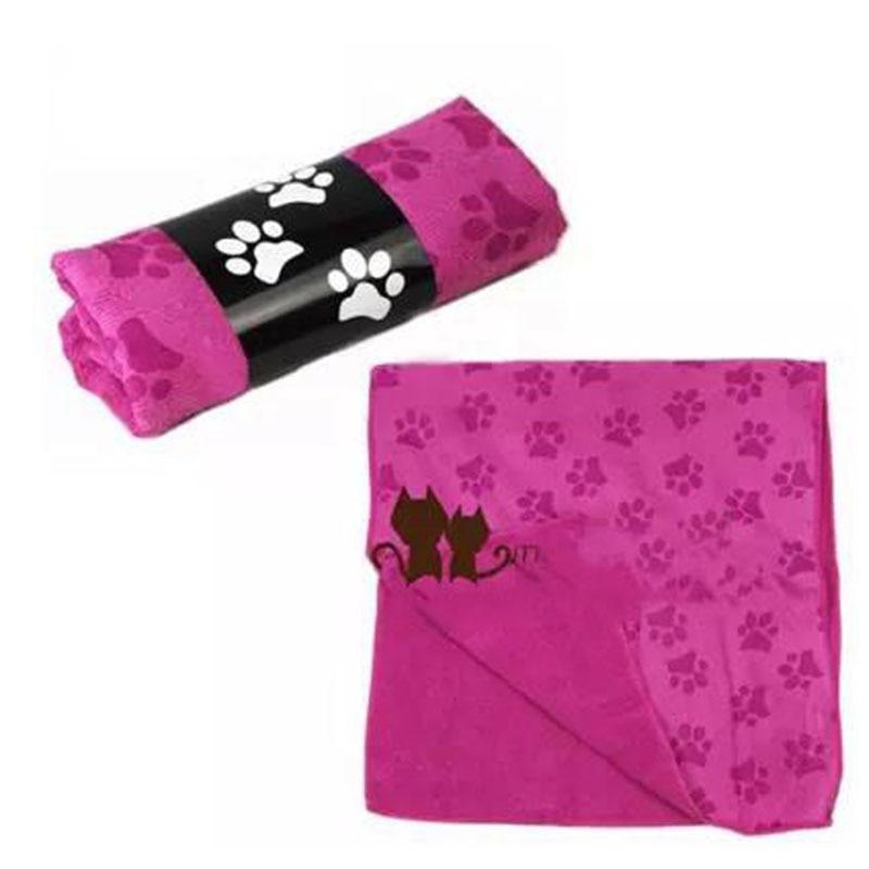 Perro Animal Print Paw Pequeña Mediana Gatos de Secado rápido de Microfibra Toallas de Baño Productos de Limpieza Sin Pelusa Pet Supplies BBMX475