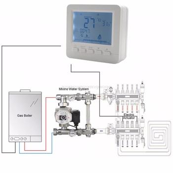 BGL02-5 LCD termoregulator kocioł gazowy temperatura podgrzewania kontroler programowalny termostat do kotła Kombi do montażu na ścianie O17 tanie i dobre opinie OOTDTY Czujnik temperatury NONE CN (pochodzenie) 2924043 49 ° C i Pod DIGITAL Przycisk Baterii Wall Hanging 1 9 Cali i Pod