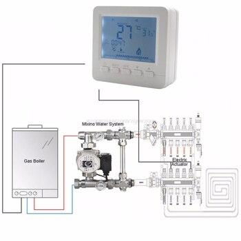 BGL02-5 lcd 온도 조절기 가스 보일러 가열 온도 조절기 kombi 보일러 벽 장착형 o17 용 프로그래밍 가능 온도 조절기