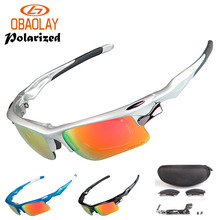 OBAOLAY High Quality 3 Lens Polarized Cycling Glasses MTB Bike Eyewear Men Women Sport gafas ciclismo Bicycle Sunglasses