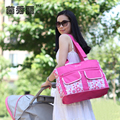 2016 New Arrival Printed Flroal Baby Diaper Bags Brand Waterproof Nappy Bags Fashion Mommy Bags For Stroller