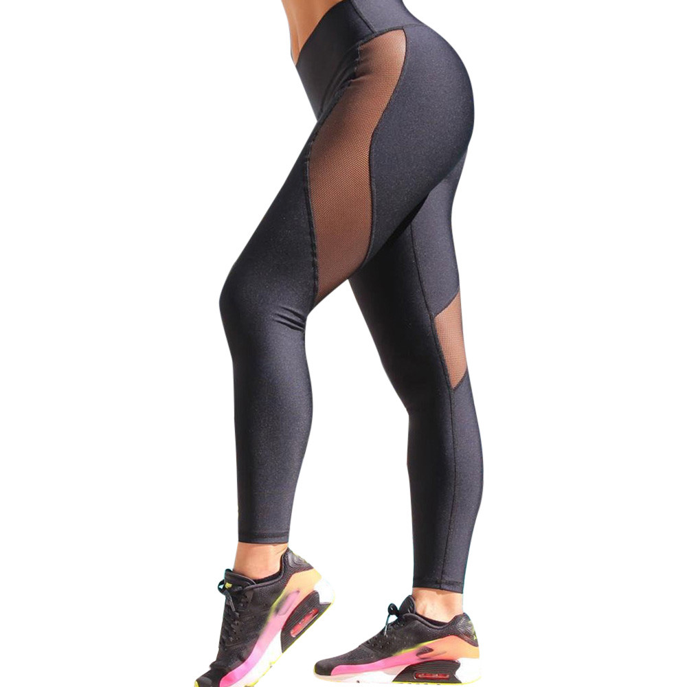 59570879bb19 Womens personality Sports Splice Patchwork Printed Workout Gym Fitness  Leggings Pants Jumpsuit Athletic Clothes flexible track