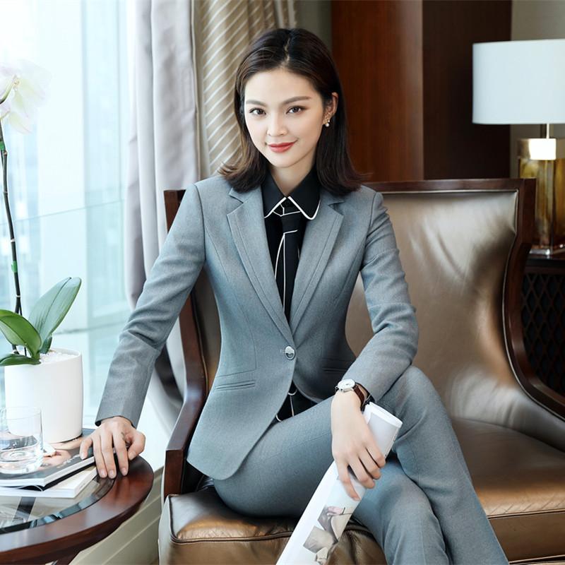 2018 Winter formal elegant Women s Blazers Work Suits ladies Skirt Jackets  suit set office lady uniforms business Plus Size 5XLUSD 45.95-73.14 piece 3e1fa0927907