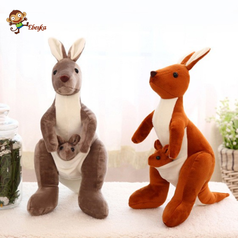 40cm Lovely Mother And Son Mother And Child Kangaroo Plush Doll