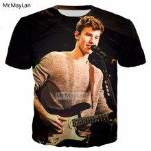 Canada Singer Rapper Shawn Mendes 3D Print Tshirt Men/Women Hiphop Streetwear Tee T shirt Boy Hipster Black Clothes 5XL 6XL