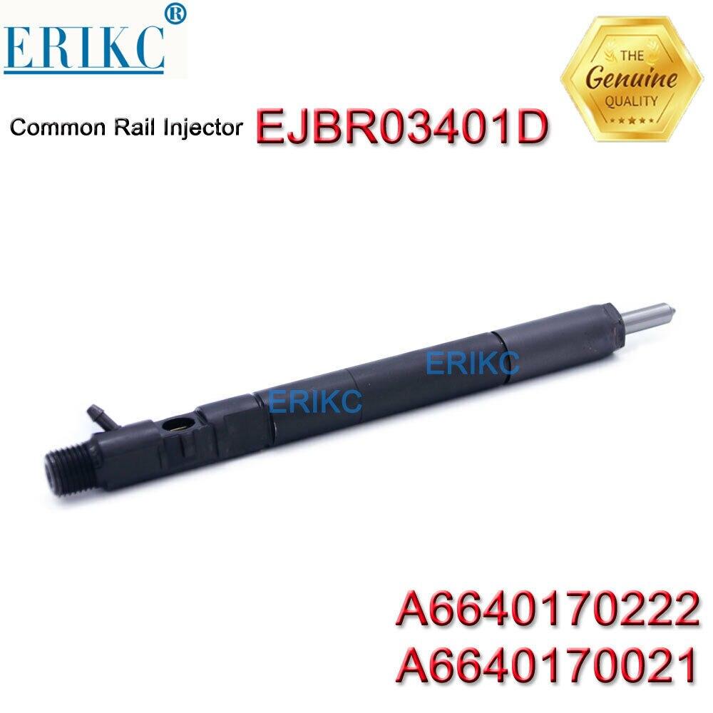 Инжектор двигателя A6640170222 ERIKC A6640170021 оригинальный EJB R03401D для SSANGYONG EJBR03401D инжектор дизельного двигателя EJBR0 3401D