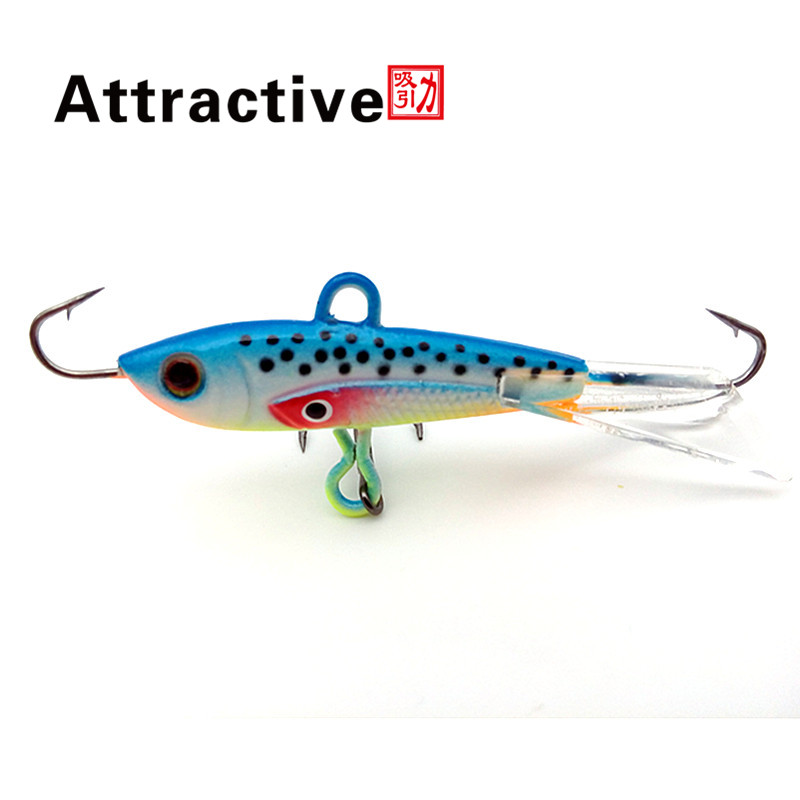 Attractive 1pc 60mm 10g 10g fishing lure winter ice for Ice fishing bait