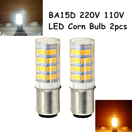 Ba15d Double Contact Bayonet Base LED Light Bulbs 110 220V 5 Watts 350lm Warm White T3/T4/C7/S6 LED Halogen Replacement Bulb