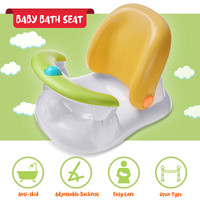 New Tub Seat Infant Baby Bathtub Chair Angle Adjustable Backrest Safety Security Anti Slip Baby Care Children Bathing Chair Seat