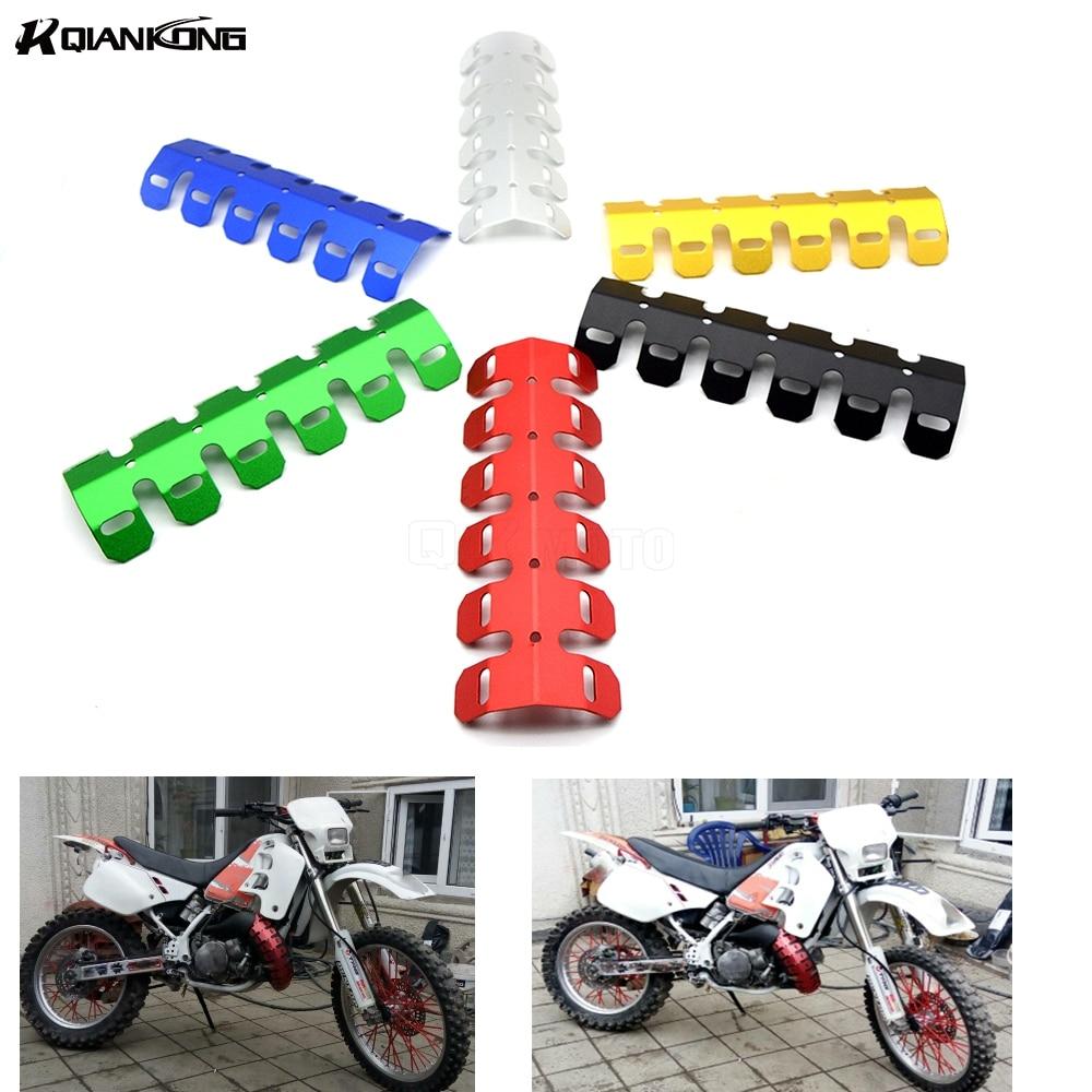 Универсальный мотоцикл глушитель трубы аварии ногу защитника тепловой защиты Обложка для SUZUKI GSX R1000 R750 R600 DL1000 DL650