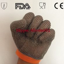 304/316 316L stainless Cut Resistant Proof Gloves Butcher Equipment Tool Safety Gloves Meat Procress Chain Mail Protective Glove