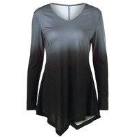 New Irregular T Shirt Women Long Sleeve Autumn Tshirt For Woman SY303