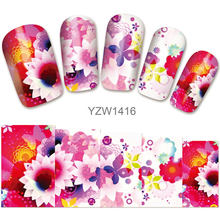2018 New Models, Watermark Stickers, Chrysanthemums, Small Fresh Nail Applique, Stickers.YZW1416