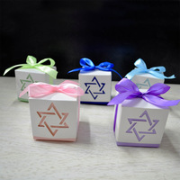 100pcs Hexagram Laser Cut Paper Box Wedding Candy Box Wedding Favor Boxes Casamento Wedding Favors Gifts Sounenirs