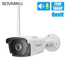 HD 720 P 1080 беспроводной Wi Fi IP камера дома цилиндрическая камера видеонаблюдения Открытый непромокаемые двухстороннее аудио CCTV ночная версия камеры