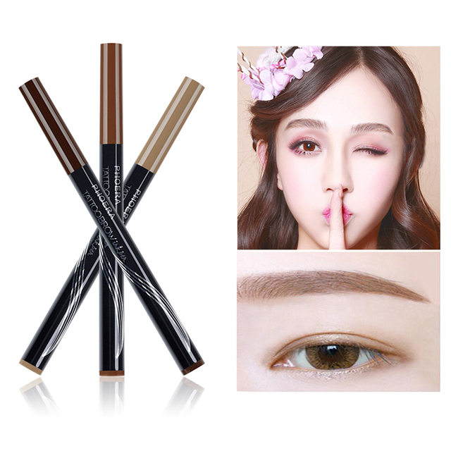 PHOERA  Double Head Eyebrow Pencil  Tattoo Pen With Brush 3