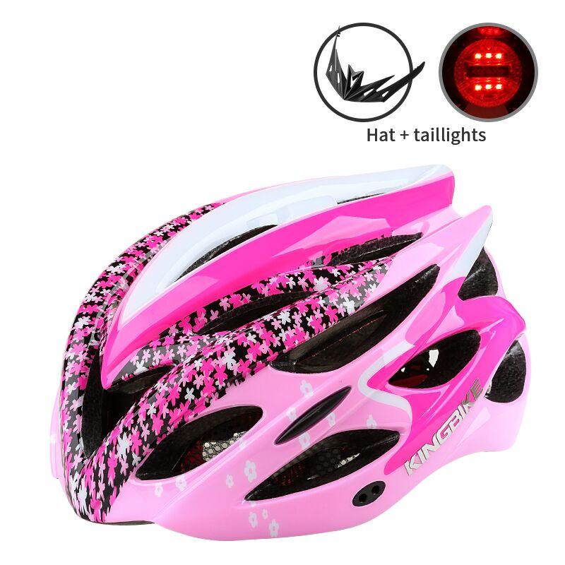 2017 Nouveau Vélo Casque Femme Montagne/Vélo De Route Casque Respirant Casque De Vélo Ultra-Léger Rose VTT 56-60 CM Casco Ciclismo