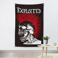 ФОТО the exploited music band team logo cloth poster banners four-hole flag dormitory bedroom wall decoration